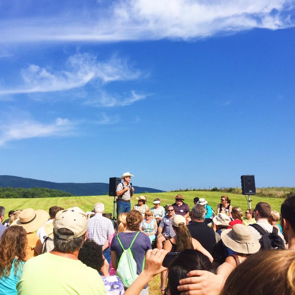 Joel Salatin at Polyface Farm